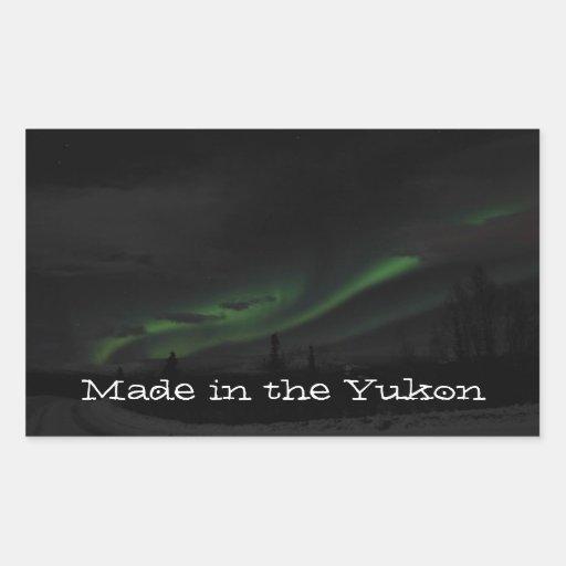 Swirls of Light; Yukon Territory Souvenir Sticker