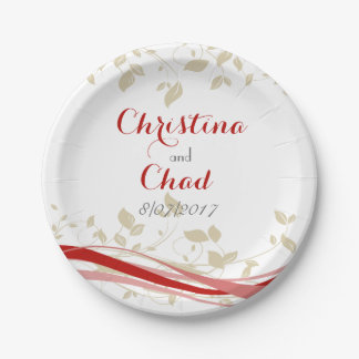 Swirls of Passion 7 Inch Paper Plate