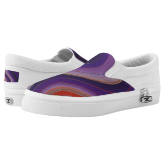Swirls of Purple and Orange Printed Shoes