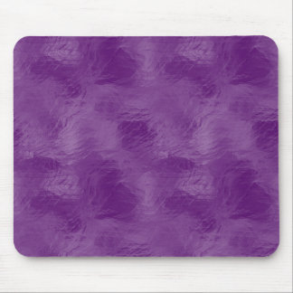Swirls on Frosted Glass: Majestic Purple Mouse Pad
