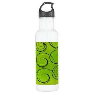 Swirls On Green 710 Ml Water Bottle