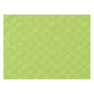 Swirls on Green Tablecloth