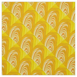 Swirls on Yellow Fabric