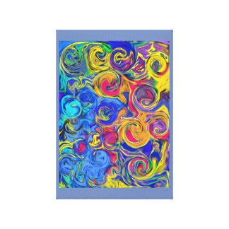 Swirls One Canvas Print