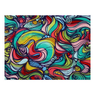 swirls poster