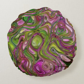Swirls Round Cushion