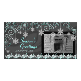 Swirls & Snowflakes Picture Card
