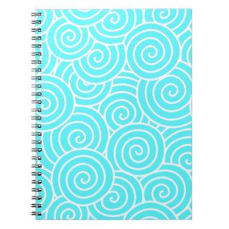 Swirls Spiral Notebook