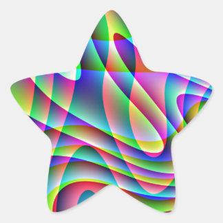 Swirls Star Sticker