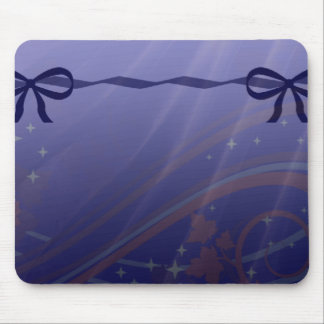 Swirls Stars and Bows Set Mouse Pad