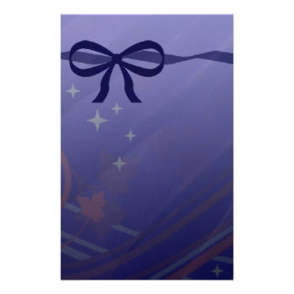 Swirls Stars and Bows Set Stationery