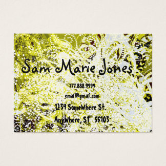 Swirls Yellow and Green Grunged Business Card
