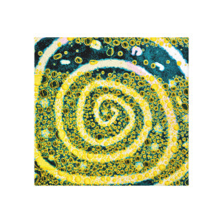 Swirls. Yellow, white, and blue Canvas Print