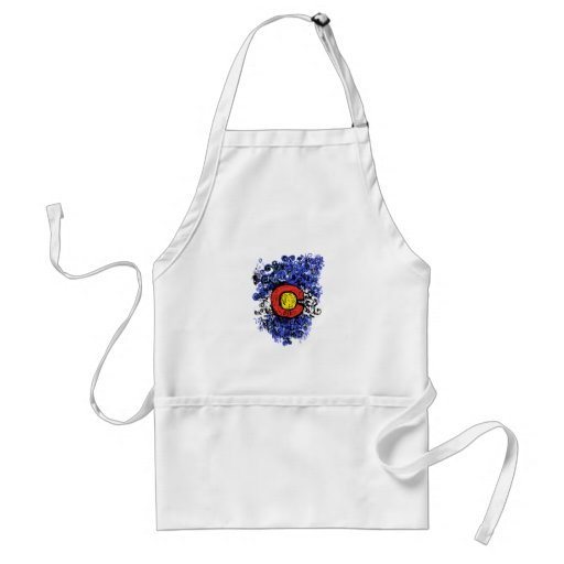 Swirly Abstract Colorado Flag Aprons