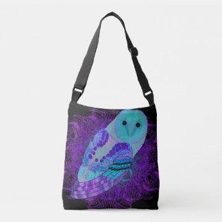 Swirly Barn Owl Crossbody Bag