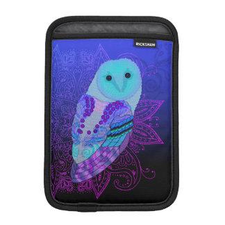 Swirly Barn Owl iPad Mini Sleeve