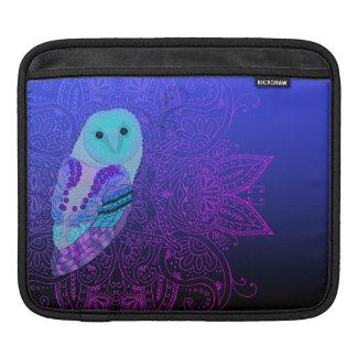 Swirly Barn Owl iPad Sleeve