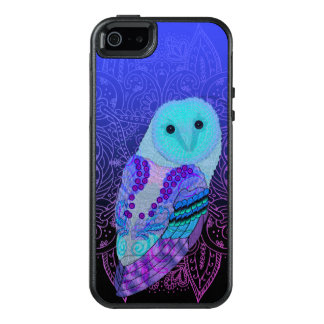 Swirly Barn Owl OtterBox iPhone 5/5s/SE Case