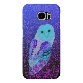 Swirly Barn Owl Samsung Galaxy S6 Cases