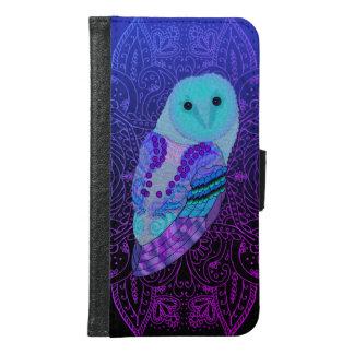 Swirly Barn Owl Samsung Galaxy S6 Wallet Case