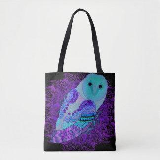 Swirly Barn Owl Tote Bag