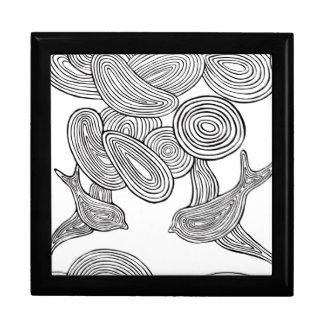 """Swirly Birds"" Large Square Gift Box"