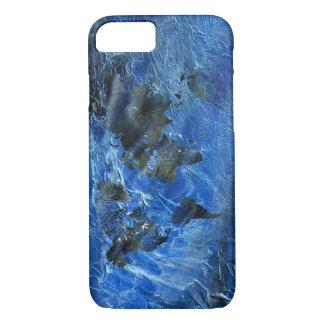 Swirly Blue Acrylic World Map iPhone 8/7 Case
