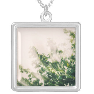Swirly Branches Silver Plated Necklace