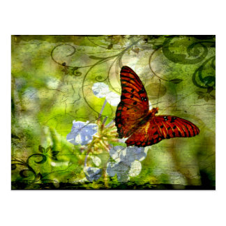 Swirly Butterfly Postcard