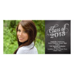Swirly Chalkboard Class of 2013 Customized Photo Card