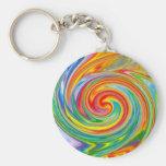 Swirly Colours Keychain
