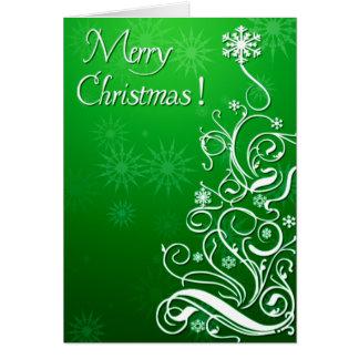 Swirly Curly Christmas Tree Card