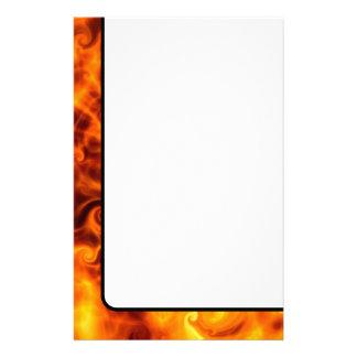 Swirly Flames Stationery