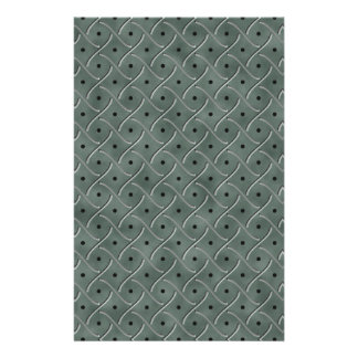 Swirly Floor Plate With Polka Dots On Hunter Green Custom Stationery