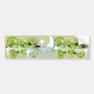 Swirly Flower Design bumpersticker Bumper Sticker