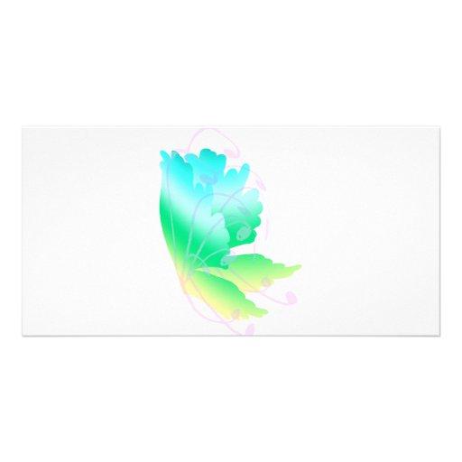 Swirly Fly  Customized Photo Card