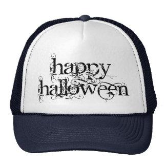 Swirly Grunge Happy Halloween Cap