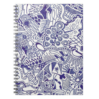 Swirly Hand Doodled Notebook