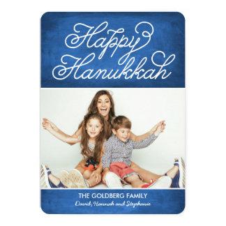Swirly Happy Hanukkah Photo Card 13 Cm X 18 Cm Invitation Card