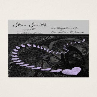 Swirly Heart Business Card -