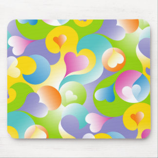 Swirly Hearts Mouse Pad