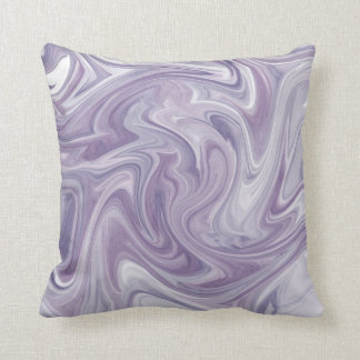 Swirly Lavender Abstract Cushion