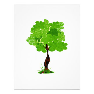 Swirly leaves green eco tree design.png custom invitation