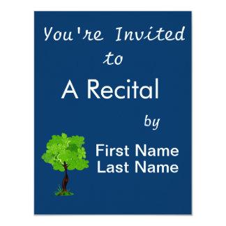 Swirly leaves green eco tree design.png 11 cm x 14 cm invitation card