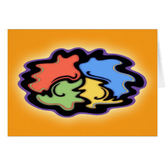 Swirly Line Peace Sign Greeting Card