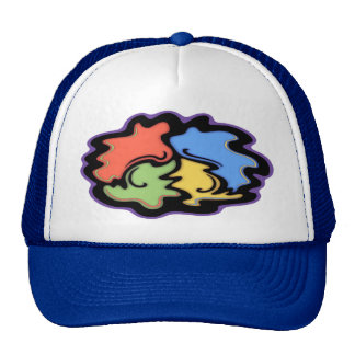 Swirly Line Peace Sign Hats
