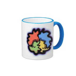 Swirly Line Peace Sign Ringer Mug