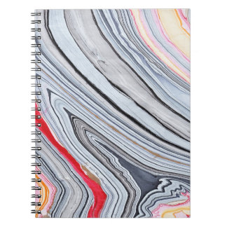 Swirly Marble in Coral Notebook