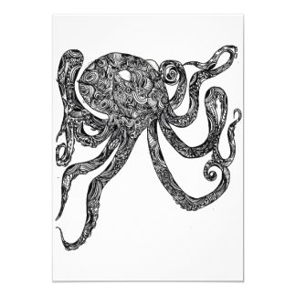 Swirly Octopus Card