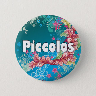 Swirly Piccolo 6 Cm Round Badge